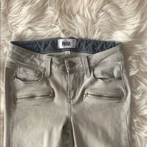 Paige jeans size 24 with zippers